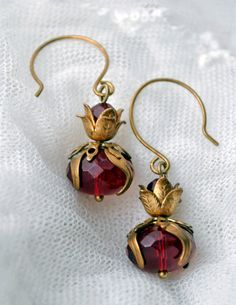 Red tulips from Amsterdam antique brass and blood by MoodsWingz