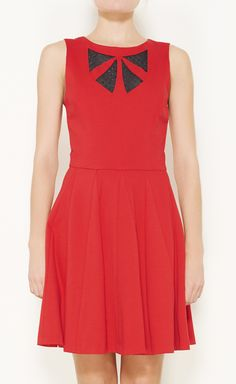 Erin Fetherston Red And Black Dress   VAUNTE