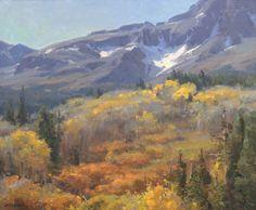 "Clyde Aspevig (1951 - ). The San Juan Range, Colorado. 20"" x 24"" oil on canvas. Signed lower left: C. ASPEVIG. Dated 1988  [http://goo.gl/m01QCu]"