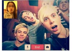 Everyone making faces but Ross. He's just focused on how pretty she looks all the time. Even in sweats. :)