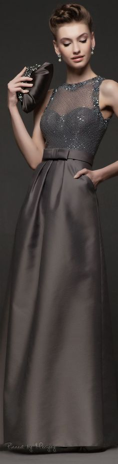 Gray Evening Gown. Chic