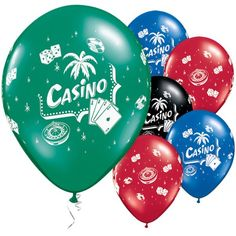 Casino Assorted Balloons - pack of 25