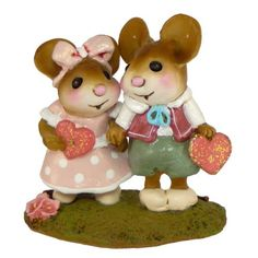 """Wee Forest Folk- """"Young Love"""" Sculpted by Annette Petersen"""