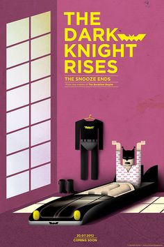 Alternative Movie Poster for the Dark Knight Rises #DarkKnightRises - check out our blog for great alternative movie poster top 10's: http://www.cautioustrain.com/blog/2013/01/top-10-alternative-dark-knight-rises-movie-posters/