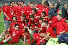 Time for celebrations after the Liverpool players defy the odds to win the European Cup