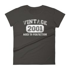Women's 2001 Tshirt 17th birthday ideas