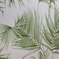Tapeta z motywem egzotycznym Bathroom Ideas, Plant Leaves, Living Room, Decorating Bathrooms