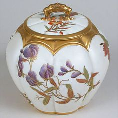 China biscuit jar (not Limoges - actually Royal Worcester - but lovely!)