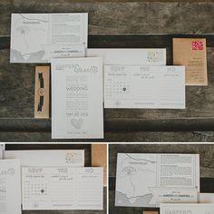 Saddlerock Ranch Malibu Wedding: Harper + Aaron    Stamp made from their ring finger fingerprints