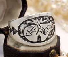 Native Southwestern Pawn Sterling Silver Carolyn Pollack Roderick Tenorio Ring! in Jewelry & Watches, Vintage & Antique Jewelry, Fine, Retro, Vintage 1930s-1980s, Rings | eBay