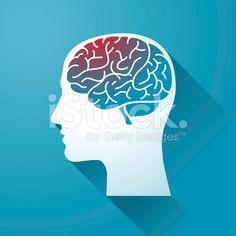 Human head and Brain royalty-free stock vector art