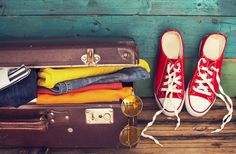 Lighten your suitcase by casting off unnecessary extras. Here are seven things to cross off your packing list. College Packing Lists, Packing List For Travel, Packing Tips, Travel Medicine Kit, Dorm Accessories, Destinations, Suitcase Packing, Destination Voyage, Universal Orlando