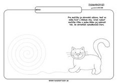 Mačka - grafomotorika - pracovné listy pre deti Projects To Try, Education, Comics, Montessori, Jar, Graphic Design, Autism, Kindergarten, Cartoons