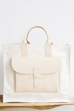 Agnes Baddoo Tote in Canvas & Leather
