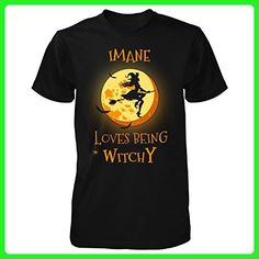 Imane Loves Being Witchy. Halloween Gift - Unisex Tshirt Black L - Holiday and seasonal shirts (*Amazon Partner-Link)