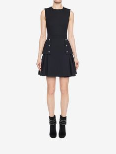 ALEXANDER MCQUEEN Military Peplum Dress Mini Dress D r