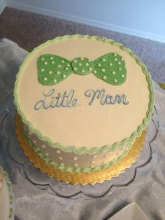 Bowtie Baby Shower Cake - Chuck's Produce