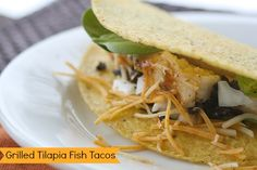 Grilled Tilapia Fish Tacos from http://themamareport.com/cooking/gortons-seafood-challenge-a-giveaway/ for Gorton's Seafood Challenge Review