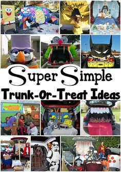 Super Simple Trunk-Or-Treat Ideas