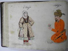 Persian Costumes and Animals with Some Drawings by Cemphor - 17th c. Isfahan - British Museum