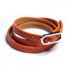 Leather bracelets in belt look - 22,95€