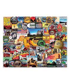 National Park Badges 1000-Piece Puzzle