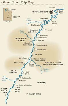Our school raft trip map