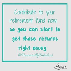 Contribute to your retirement fund now, so you can start to get those returns right away!  Trust me your future self will be grateful that you planned ahead! Watch the video to get started --> Link in bio.