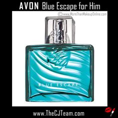 Blue Escape for Him Eau de Toilette Spray. Avon. Desire runs deep. The temptation of fresh ocean mist, white pepper, tropical driftwood and sensual musk. 2.5 fl. oz. Top: Ocean Mist, Middle: Blue Geranium, Bottom: Hot Skin Musk. Regularly $23. Shop online with FREE shipping with any $40 online Avon purchase #Avon #Sale #CJTeam #ForHim #MensFragrance  #Fragrance #BlueEscape #New #Avon4me #C8 Shop Avon Fragrance online @ www.thecjteam.com.