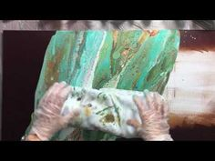 ( 019 ) Acrylic pouring with pressure part 2 final pours. - YouTube