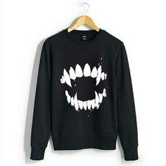 Vampire Halloween Sweatshirt {Women's Hanes} by wilddtail on Etsy