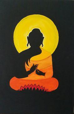 """""""Todas as manhãs, nós nascemos de novo. O que fazemos hoje é o que mais importa."""" Buddha Buddha Painting, Buddha Art, Mural Painting, Fabric Painting, Skyline Painting, Painting Abstract, Madhubani Art, Madhubani Painting, Arte Tribal"""