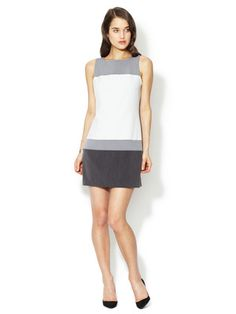 Colorblock shift dress on sale today for $99