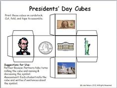 Classroom Freebies: Presidents Day Conversation Cube