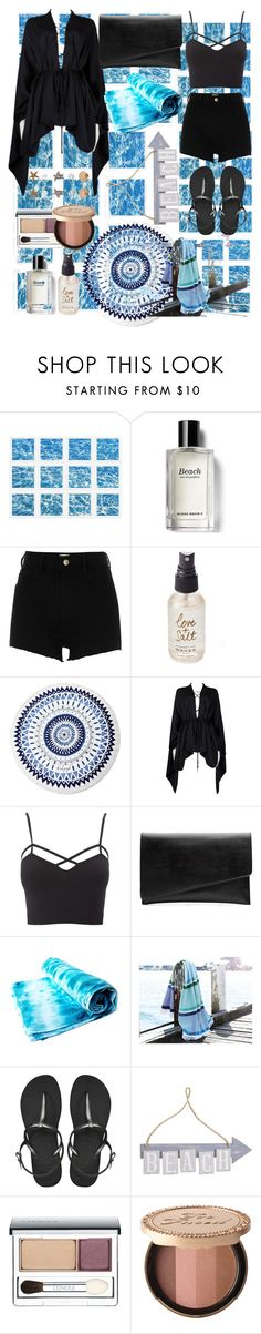 """""""Beach"""" by cerezobiyori ❤ liked on Polyvore featuring William Stafford, Bobbi Brown Cosmetics, River Island, Olivine, The Beach People, Tom Ford, Charlotte Russe, Witchery, Havaianas and Pier 1 Imports"""