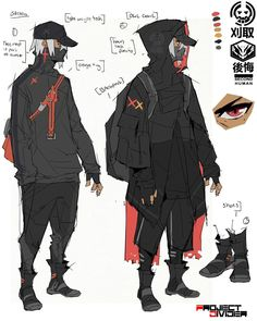 Game Character Design, Fantasy Character Design, Character Design References, Character Design Inspiration, Character Concept, Character Art, Cyberpunk Anime, Cyberpunk Character, Cyberpunk Art