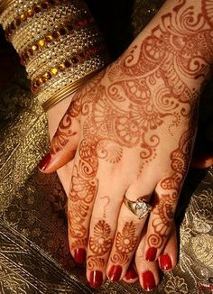 Indian bridal mehndi designs are used by the Indian bridals on their wedding ceremony to create