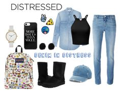 """""""D.I.D #102"""" by kro-1 ❤ liked on Polyvore featuring Mudd, Yves Saint Laurent, Givenchy, Stoney Clover Lane, Skagen, UGG Australia and distresseddenim"""