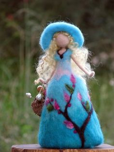 Waldorf inspired Needle felted Rose doll Art doll by Made4uByMagic