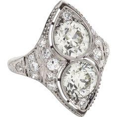 Art Deco Old European Cut Diamond Ring c1920