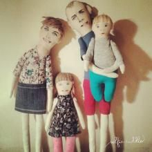 presonalised handmade fabric doll, portrait doll, family doll