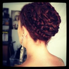 By Veronica B. The different sized braids in this wrap around style make it more visually interesting. @Bloom.com