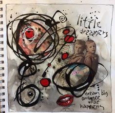 Deb Weiers - Little Dreamers Mixed Media Art, The Dreamers, Spiderman, Abstract Art, Doodles, Art Journals, Drawings, Artist, Journalling