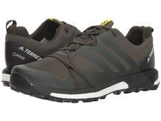 9ec38798841e61 adidas Outdoor Terrex Agravic GTX (Base Green Base Green Shock Yellow) Men s