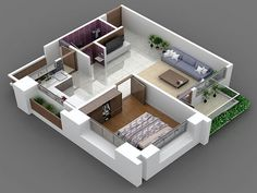 Small House 700 Square Feet 21 Beautiful D House Plans Indian Style Small Uganda Simple Floor Home 3d House Plans, Open Floor House Plans, Indian House Plans, 2 Bedroom House Plans, Small House Plans, House Floor, Floor Plans, Row House Design, House Design Photos