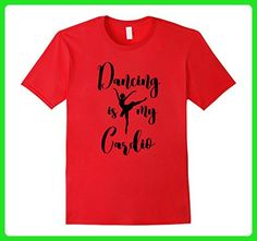 Mens Dancing is My Cardio Tshirt for Dancers Workout Fitness Tee Large Red - Workout shirts (*Amazon Partner-Link)