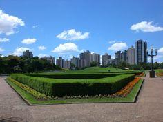 Brazil, Curitiba, view from Botanical Garden towards the city