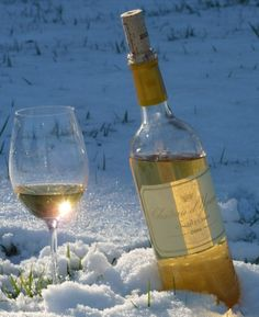 Sweet wine in the snow