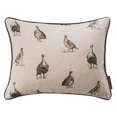 Gamebirds Print Linen Square Cushion