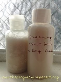 Conditioning Coconut Milk Hair & Body Wash Tutorial DIY A castile soap of your choice. Bronner's) Coconut milk (from a can, fresh or make your own) 1 tbsp. of Coconut Oil Coconut Milk For Hair, Coconut Shampoo, Honey Shampoo, Natural Shampoo, Homemade Shampoo, Homemade Body Wash, Homemade Baby, Homemade Beauty Products, Baby Products
